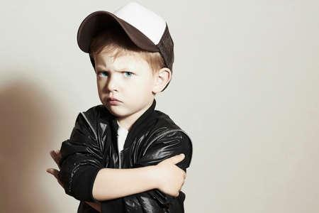 Photo pour Fashionable Child.stylish little.fashion children.Hip-Hop style - image libre de droit