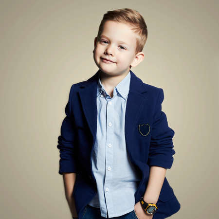 Photo for fashionable little boy.stylish child in suit. fashion children.business kids - Royalty Free Image