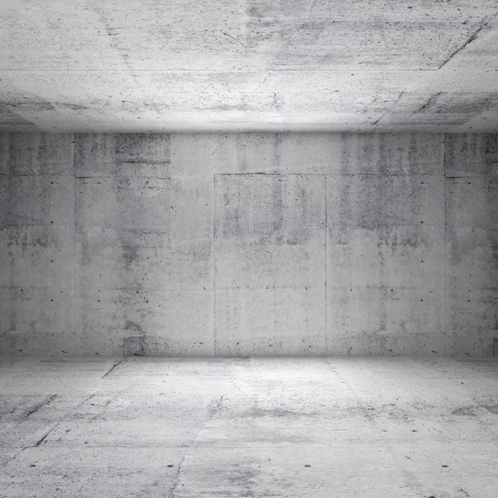 Photo pour Abstract white interior of empty room with concrete walls - image libre de droit