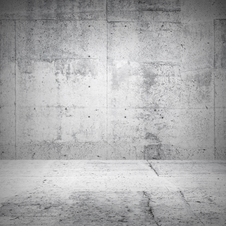 Abstract white interior of empty room with concrete walls and floor
