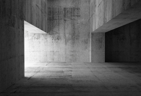 Photo for Empty dark abstract concrete room interior  3d illustration - Royalty Free Image