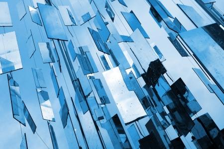 Foto de Abstract blue mirrors  - Imagen libre de derechos