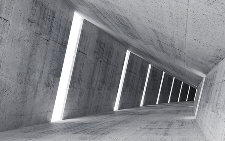 Foto de Empty abstract concrete interior, 3d render of pitched tunnel  - Imagen libre de derechos