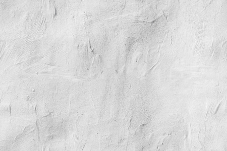 Photo pour Old white concrete wall with plaster, seamless background photo texture - image libre de droit