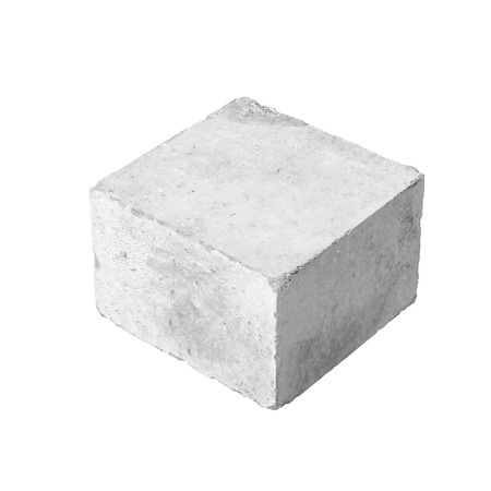 Photo for Big concrete construction block isolated on white background - Royalty Free Image