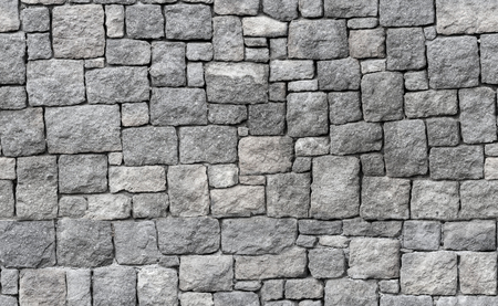 Foto de Old gray stone wall, seamless background photo texture - Imagen libre de derechos