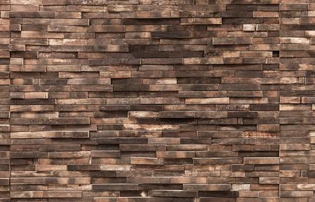 Foto de Decorative wooden wall background texture, natural wallpaper pattern - Imagen libre de derechos