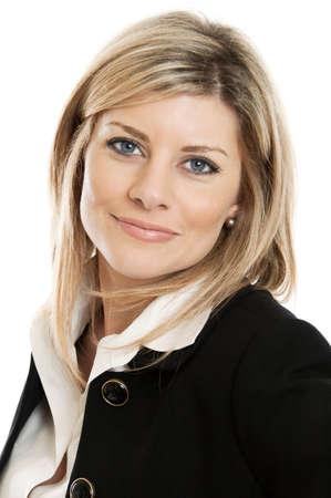 Photo pour Businesswoman portrait isolated on white - image libre de droit