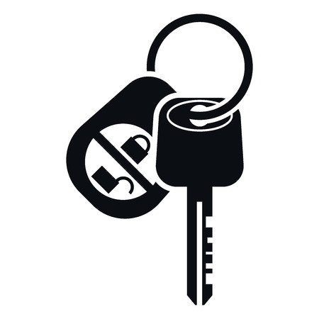 Illustration pour Car Alarm and Key Icon, Vector Illustration - image libre de droit