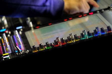 Photo for Mar 22, 2018Close up of audio mixer knobs, Abu Dhabi, UAE - Royalty Free Image
