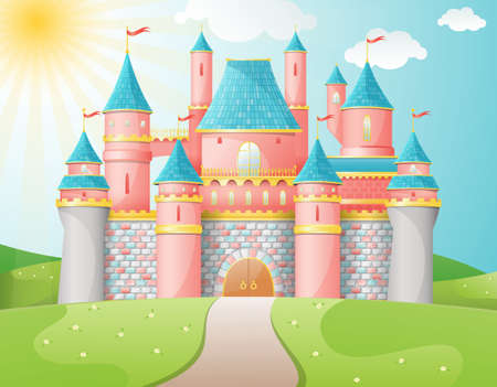 FairyTale castle illustration mural