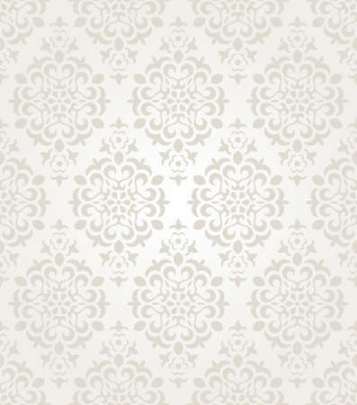 Illustration for Floral vintage wallpaper. Seamless background.  - Royalty Free Image