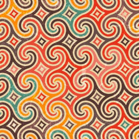 Ilustración de Retro pattern with swirls.  - Imagen libre de derechos