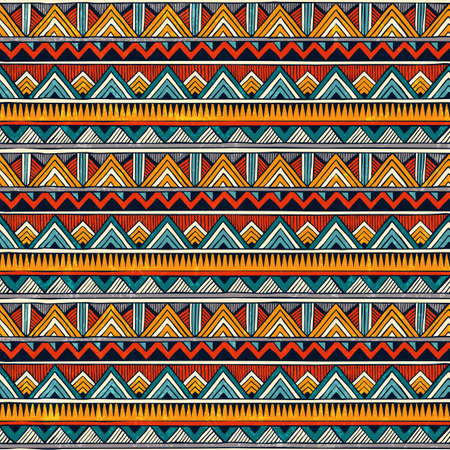 Illustration for Tribal pattern. - Royalty Free Image