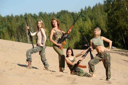 four armed girl