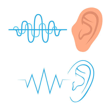 Illustration pour vector icon, listen ear sound, hearing a symbol, - image libre de droit