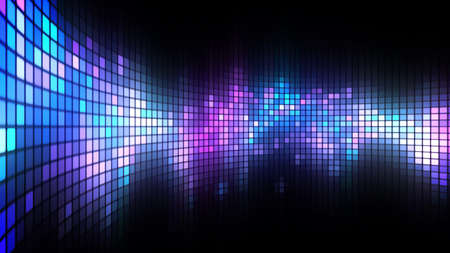 Foto de Abstract colorful led screen background for party,holidays,fash ion,dance and celebration. 8K Ultra HD Resolution at 300dpi - Imagen libre de derechos