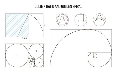 Illustration pour golden ratio template vector, Divine Proportions, Golden Proportion - image libre de droit