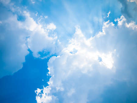 Photo for Blue sky with sun and beautiful clouds. - Royalty Free Image
