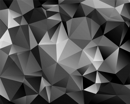 Illustration for Polygon abstract monochrome background for your design - Royalty Free Image