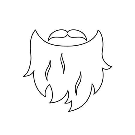 Illustrazione per Beard isolated icon on white background. Vector illustration. - Immagini Royalty Free