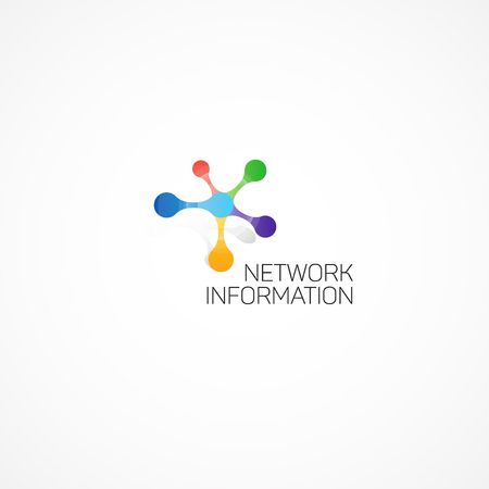 Illustration pour Network Information. Abstract illustration on the theme of information. - image libre de droit