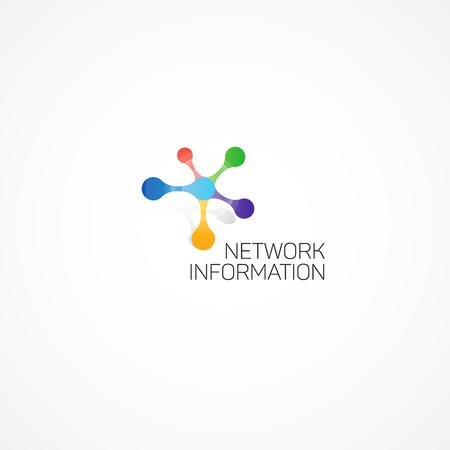 Ilustración de Network Information. Abstract illustration on the theme of information. - Imagen libre de derechos