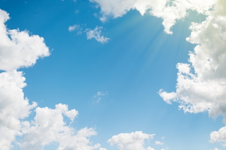 Photo for background. beautiful blue sky with white clouds - Royalty Free Image