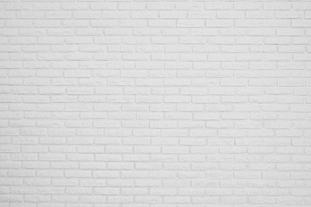 Photo pour the brick white blank wall - image libre de droit