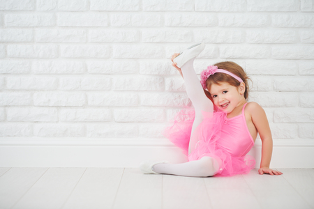 child little girl dancer ballet ballerina stretching