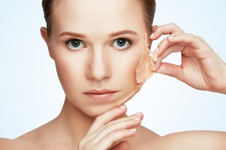 Photo pour beauty concept rejuvenation, renewal, skin care and skin problems - image libre de droit