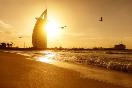 Photo for Burj Al Arab, hotel sail in Dubai United Arab Emirates UAE, January 2018  - Royalty Free Image