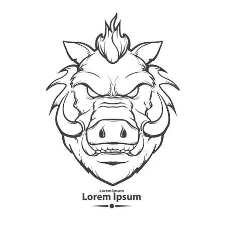 Illustration pour boar - image libre de droit