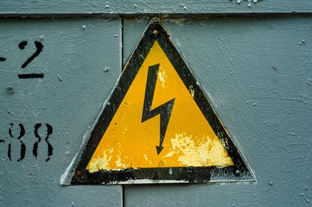 Foto de Electrical Sign symbol power industry danger risk - Imagen libre de derechos