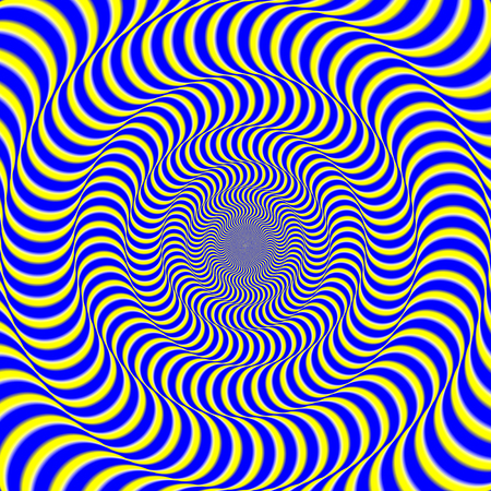 Foto de Psychedelic optical spin illusion background. Illusion of motion effect image. - Imagen libre de derechos