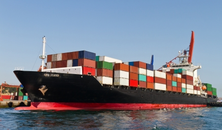 Photo for Container Ship - Royalty Free Image