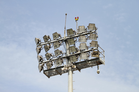 Photo for Ligting Equipment over pole in a Stadium - Royalty Free Image