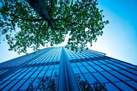Foto de The modern office building. - Imagen libre de derechos