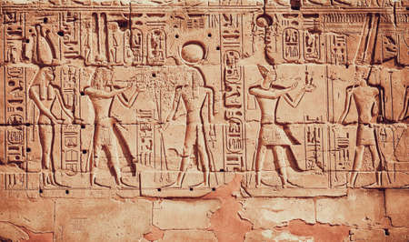 Photo for old egypt hieroglyphs - Royalty Free Image