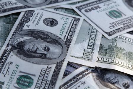 Photo pour Money Background with american hundred dollar bills - image libre de droit