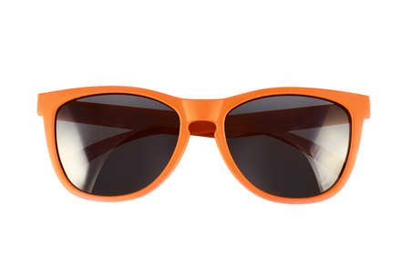 Photo for Orange sun glasses isolated over the white background - Royalty Free Image
