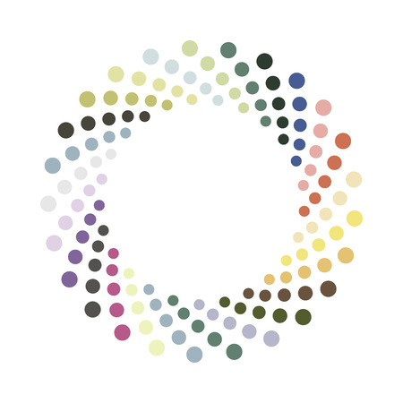 Ilustración de Abstract colorful circle.Vector design element. Color round texture. - Imagen libre de derechos