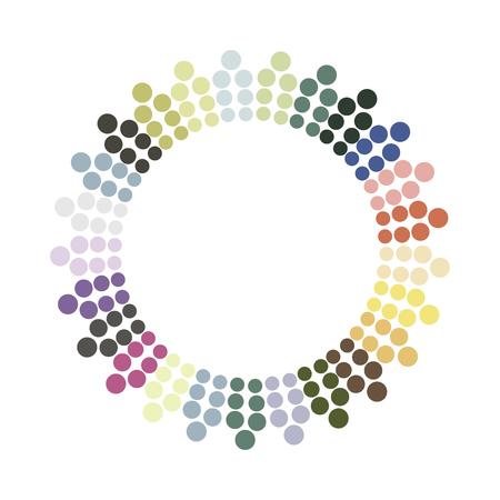 Illustration pour Abstract colorful circle.Vector design element. Color round texture. - image libre de droit