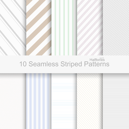 Ilustración de Striped seamless patterns. Soft colors patterns for your design and ideas. - Imagen libre de derechos