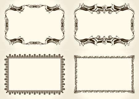 Illustration pour Ornate and vintage design calligraphic elements - image libre de droit