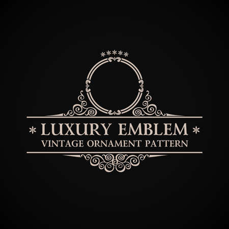 Ilustración de Vintage vector logo. Calligraphic elegant decor element ornament - Imagen libre de derechos