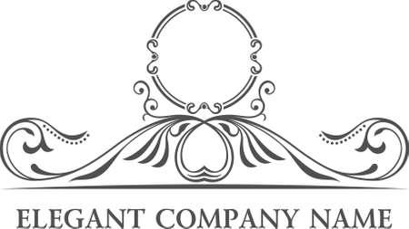 Ilustración de Luxury logo set. Calligraphic pattern elegant decor elements. Vintage vector ornament - Imagen libre de derechos