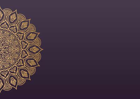 Ilustración de Elegant background with lace ornament and place for text. Floral elements, ornate background, mandala. - Imagen libre de derechos