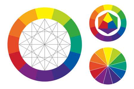 Ilustración de color wheel vector illustration - Imagen libre de derechos
