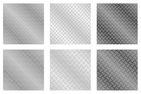 Illustration for Repeating, tileable chequer plate metal background vector illustrations - Royalty Free Image